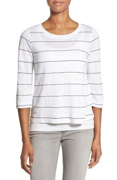 Eileen Fisher Ballet Neck Stripe Top available at #Nordstrom