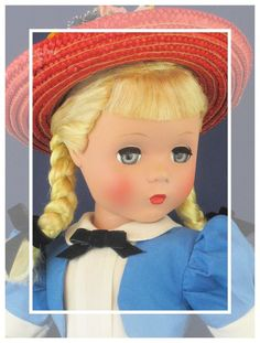 "Adorable c.1949 VERY RARE PLATINUM Vintage Madame Alexander 17"" POLLY PIGTAILS!  #DollswithClothingAccessories"