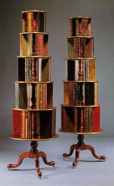 Ralph Lauren 1995 Sotheby Auction - Regency Style five-tier brass-mounted revolving bookshelves