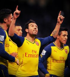 Arsenal took the lead midway through the first half when Cazorla converted from the spot. Arsenal Players, Arsenal Football, Arsenal Fc, Arsene Wenger, League Gaming, Professional Football, European Football, Fa Cup, Great Team