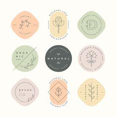 Natural business logo collection Free Ve. Resume Logo, Logo Branding, Branding Design, Logo Y, Sun Logo, Design Packaging, Branding Ideas, Typography Logo, Logo Lotus