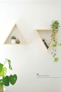 diy | triangle shelves