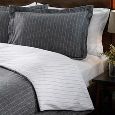 Luxury German Flannel Striped Reversible 3-piece Duvet Cover Set | Overstock.com Shopping - Great Deals on Duvet Covers