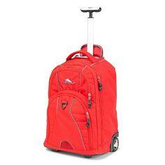 High Sierra Freewheel Crimson Wheeled Backpack with Teloscoping Handle Rolling Backpack, Laptop Backpack, Mesh Backpack, High Sierra Backpack, 20 Inch Wheels, Backpack With Wheels, Kick Plate, Business Laptop, Computer Sleeve