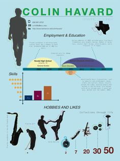 Infographic Resume by Oksana Hays, via Behance