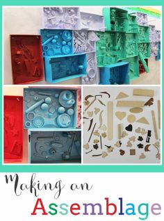 I have seen variations of this project many times but have never tried it with my students. I am pleased with how our assemblages turned out!…