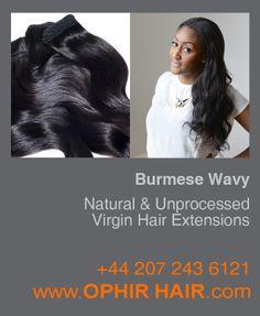 Burmese Wavy natural and unprocessed virgin hair