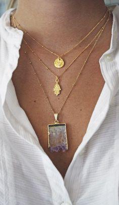 Hamsa Necklace - Kei Jewelry - A unique blend of fun, classy and chic