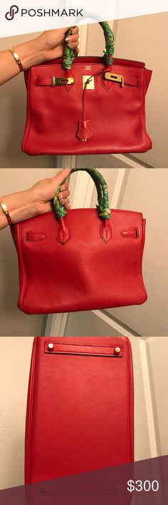 Real box leather birkin inspired handbag sz30 What you in is what you will get. Which means it will come with the twilly. All my items are no filter because I want you girls to see the real product. Also selling other hang bags I'm tryna clean out my closet so I could purchase new seasons. Please lmk if you have any questions or would like to see more pics. Happy shopping girls <3 xo & Other Stories Bags