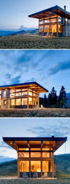 Cool modern home in the middle of nowhere.. :)