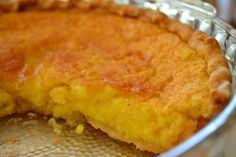 Lemon Chess pie - it doesn't look that exciting but it's wonderful!