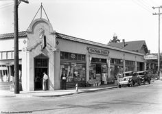 This building, still standing on the corner of NE Broadway and 28th Avenue, housed several business, including Fernwood Pharmacy, one of the MacMarr Stores, Gaston Meats, and S & S Garage. &nbs...