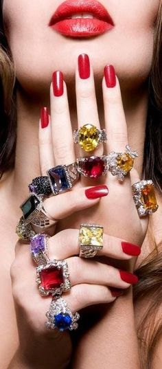 The Millionairess of Pennsylvania: rings bejeweled rings!