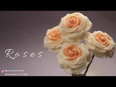 Easy Realistic Rose Felt Flowers - How to Make Felt Roses Diy Crafts How To Make, Felt Crafts Diy, Felt Diy, Felt Roses, Felt Flowers, Fabric Flowers, Ribbon Flower Tutorial, Bow Tutorial, Zipper Flowers
