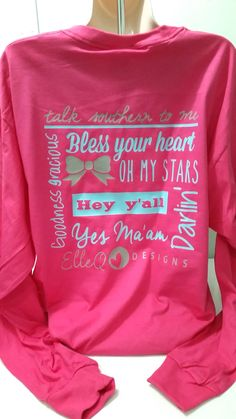 Monogrammed Southern Sayings Long Sleeve Shirt. Southern Sayings. Southern Shirt. Southern Girl. Country Girl. Country Concert Shirt. Shirt. by ElleQDesigns on Etsy https://www.etsy.com/listing/211710349/monogrammed-southern-sayings-long-sleeve