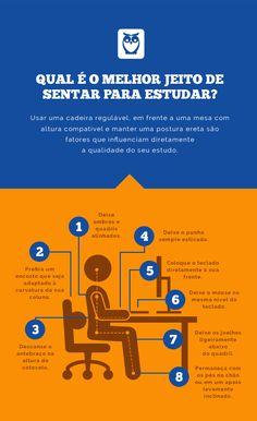 Uma postura correta pode ser sua aliada na hora de se preparar para um concurso! #estudos #concursos #postura #coluna #estudar