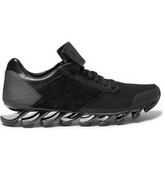 Rick Owens Adidas Springblade Leather and Rubber Sneakers | MR PORTER