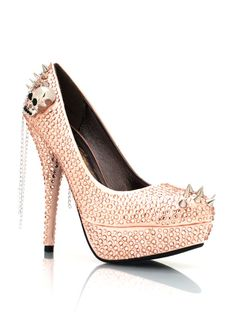 These are the bomb! spiked embellished platforms $54.95
