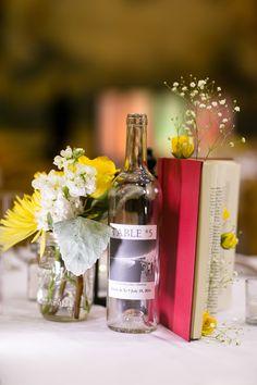 Yellow and Grey Wedding reception decor