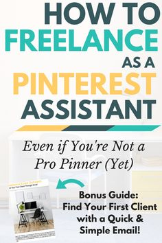 Love all things Pinterest? Turn it into your career when you become a freelance Pinterest assistant. This guide will show you how to freelance as a Pinterest assistant, even if you're not a pro pinner (yet). You'll also get a free bonus guide that will help you land your first client with a quick and simple email.