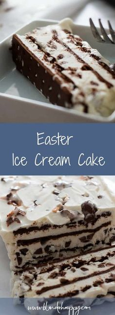 Easter Ice Cream Cake is the perfect seasonal dessert to make at home.  It is easy yet will still impress your kids. via /blenderhappy/