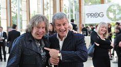 Keith Emmerson y Carl Palmer (Emerson, Lake & Palmer) el dia de la entrega de los Prog Awards 2012.