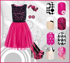 Pixel Tile, Sealed with a Kiss, French Tip Bows, Pink Tiger, Icy Pink Polka, Digi-Houndstooth, Zebra Tip, Carmen Ombre