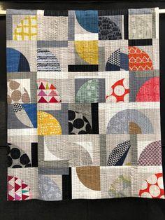 Modern Improv Quilt by Sarah Hibbert at FOQ2018