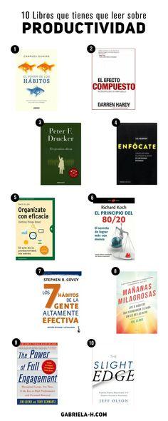 Si estás buscando un libro para leer o para regalar sobre Productividad, habrás notado que hay miles para ... Good Books, Books To Read, My Books, 5am Club, Entrepreneur Books, Book Recommendations, Reading Lists, Book Lovers, Leadership