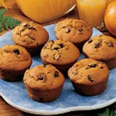 Pumpkin Chocolate Chip Muffins. MADE THESE and they are fantastic! So easy, so yummy. I usually include some whole wheat flour.