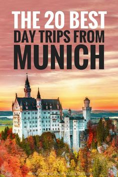 A massive list of the 20 best day trips from Munich in winter or summer. Ranked by a local these are the best day tours from Munich. Salzburg, Neuschwanstein, Regensburg, Rothenburg ob der Tauber - the list of beautiful highlights and cities near Munich i Cities In Germany, Visit Germany, Munich Germany, Germany Travel, Visit Munich, Germany Europe, Bavaria Germany, Europe Destinations, Europe Travel Tips