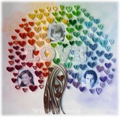 WhiteRacoon's handcrafts blog: quilled love tree
