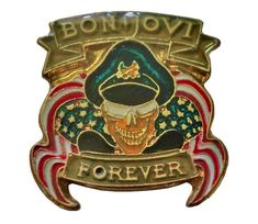 """BON JOVI Forever vintage enamel pin New Jersey 1988 Always Love Song Ballad by VintageTrafficUSA  17.00 USD  A vintage Bon Jovi pin! New old stock condition! Measures: approx 1"""" or less 20 years old hard to find vintage high-quality cloisonne lapel/pin. Beautiful die struck metal pin with colored glass enamel filling. Add inspiration to your handbag tie jacket backpack hat or wall. Have some individuality = some flair! -------------------------------------------- SECOND ITEM SHIPS FREE IN…"""