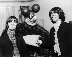 1968 - Ringo Starr and George Harrison.