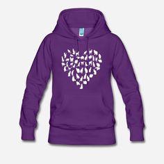 Cat Heart Art T-shirts, Sweatshirts and Hoodie. #meowt #love