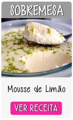 mousse de limao Light Recipes, Sweet Tooth, Sweet Treats, Paleo, Low Carb, Healthy Eating, Nutrition, Healthy Recipes, Cooking