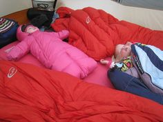 Family Adventures in the Canadian Rockies: Family camping made easy - Warm sleepers are happy sleepers