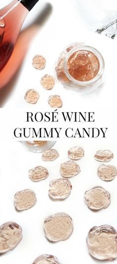 These Rosé gummy candies are made with Rosé wine for a fun adult candy treat. Similar to the Rose Gummy Bears this is an easy candy recipe to make and is great for parties. Cheers to wine candy! // www.ElleTalk.com