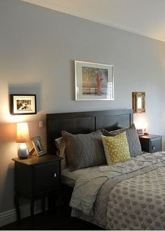 The name of this BEHR paint truly says it all. Gentle Rain is sure to add a soothing tone to your master bedroom. Along with simple decor and cozy textured bedding, you'll be making your first house a home in no time.