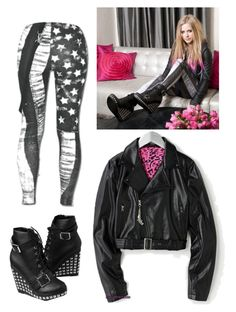 """Avril Lavigne inspired outfit"" by kellyjellybelly ❤ liked on Polyvore featuring Abbey Dawn"