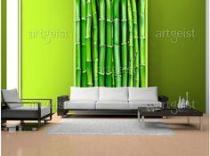 Verde jugoso en el fotomural - decoración de la pared que no puede ser ignorada #fotomurales #verde #home #decor #papel-pintado #wallpapers