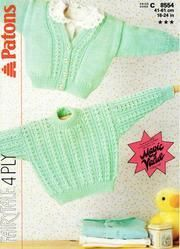 Patons 8554 Sweater and cardigan