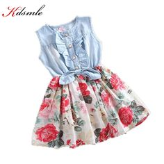 Cheap dress with long sleeve, Buy Quality dresses large directly from China dress deb Suppliers:   Specifications:Girls Dress Summer 2015 Girl Flower Dress Baby Slee