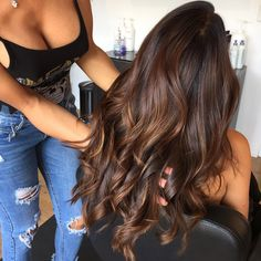 New Hair Styles Long Color 33 Ideas Neue Frisuren Lange Farbe 33 Ideen Brown Hair Balayage, Brown Blonde Hair, Brown Hair With Highlights, Light Brown Hair, Hair Color Balayage, Brunette Hair, Dark Hair, Ombre Highlights, Ombre Hair Color