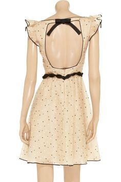 Valentino Polka-dot silk-blend dress - 75% Off Now at THE OUTNET