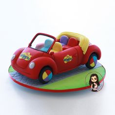 🎶 Here is my cute little version of the Wiggles car for one special little man's birthday. Wiggles Cake, Wiggles Party, The Wiggles, Little Man Birthday, 3rd Birthday, Cars Birthday Parties, Beautiful Little Girls, Toot, Childrens Party