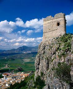 zahara de la sierra, spain...I always wonder how they built these places