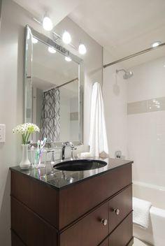 @Kohler Co. Evandale vanity in Grant and Eve's basement bathroom, Income Property on HGTV