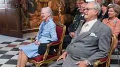 Queen Margrethe and Prince Henrik couple enjoyed the music at Rosenborg Castle on Wednesday, 27 May 2015.