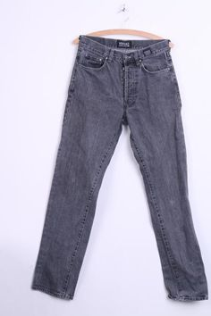 Versace Jeans Couture Mens 33/47 Trousers Dark Grey Cotton - RetrospectClothes